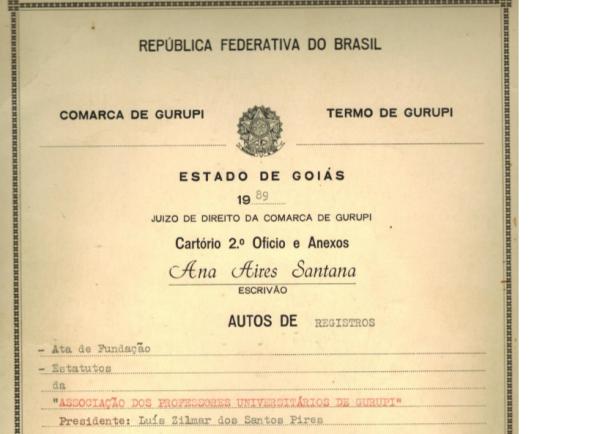 Memória 1: documentos da criação da APUG-SSind