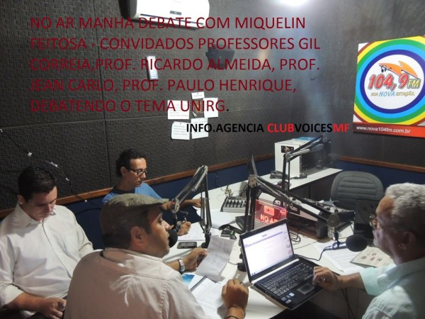 Professores discutem UnirG no rádio