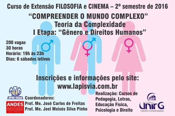 Curso de Extensão em Filosofia e Cinema terá início no sábado, 27 de agosto