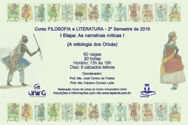 Estão abertas as inscrições para o Curso de Extensão de Filosofia e Literatura