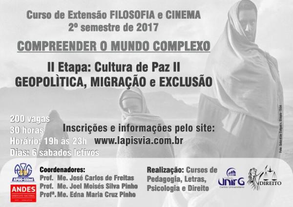 FILOSOFIA e CINEMA 2017-02 – Inscrições abertas