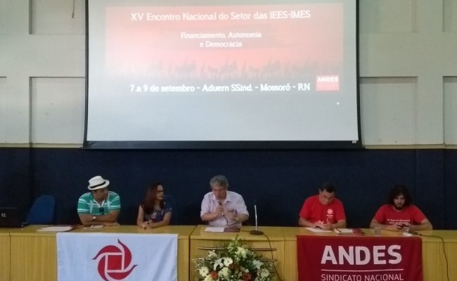 XV Encontro Nacional das IEES/IMES do Andes acontece em Mossoró-RN com presença da Apug