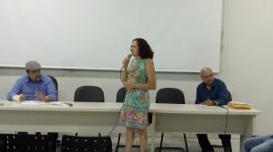 Professora Lucirez falou em nome da diretoria que deixou o cargo