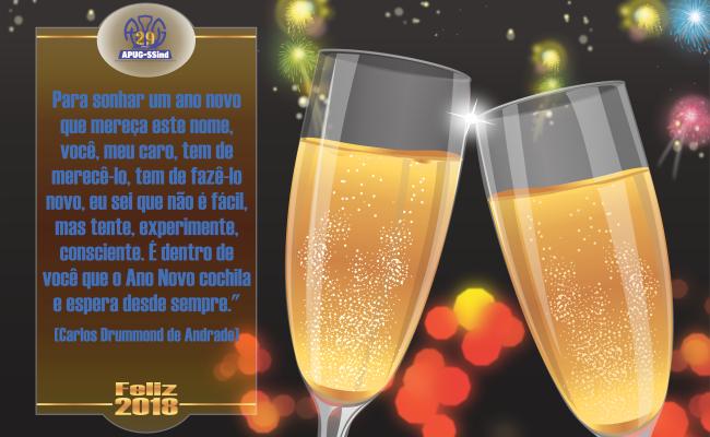 Feliz Ano Novo a todos os professores e servidores da Unirg