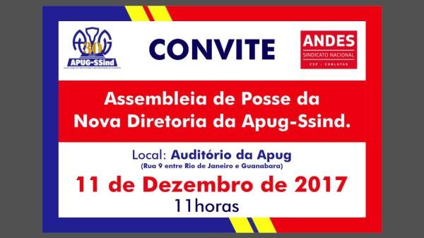 Nova diretoria da Apug-Ssind toma posse na segunda-feira, 11 de dezembro