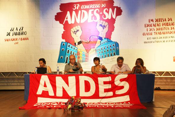 37° Congresso do ANDES-SN expressa mobilização docente e aponta desafios para 2018