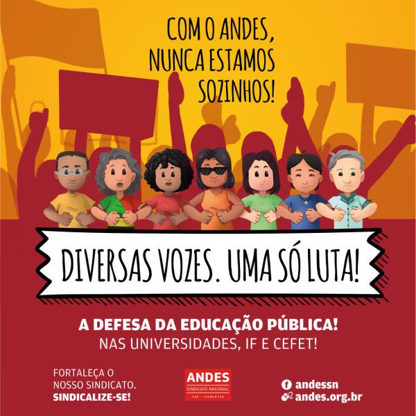 Campanha de sindicalização do ANDES-SN pauta a luta contra as opressões