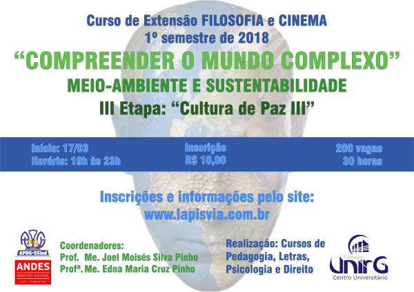Filosofia e Cinema debate Ambiente e Sustentabilidade