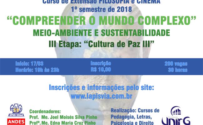 Quarto Encontro de Filosofia e Cinema debate Ambiente e Sustentabilidade com filme Serra Pelada