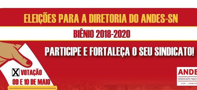 Eleição do ANDES-SN para escolha da nova diretoria está acontecendo em todo o Brasil