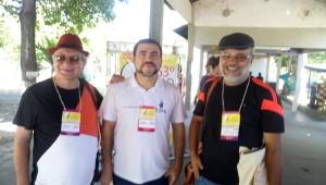 Na esquerda: Joel Moisés (sindicalizado), no centro Diretor-Tesoureiro Antonio Netto e a direita, Gilberto Correia (sindicalizado).