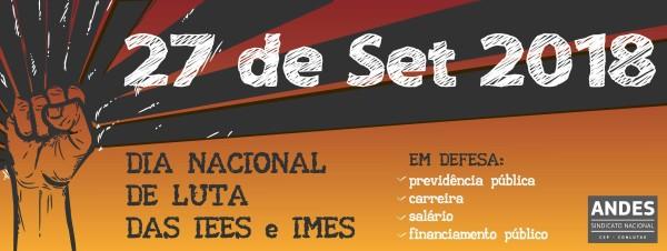 Dia Nacional de Luta nas Instituições de Ensino Estaduais e Municipais será nesta quinta (27)