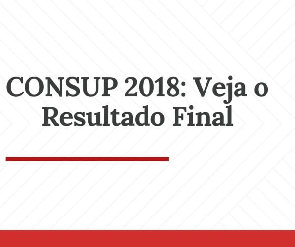 CONSUP 2018: Resultado final