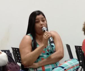 Gabriela Cardoso, presidente do SINTET.