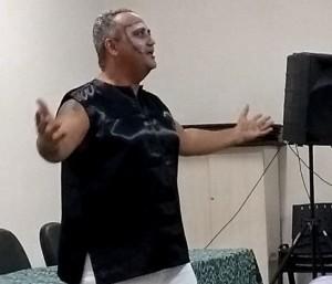 Apresentação de poesia pelo prof. Audimar
