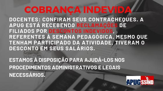 COBRANÇA INDEVIDA REFERENTE À SEMANA PEDAGÓGICA