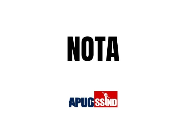 Nota APUG – Coronavírus