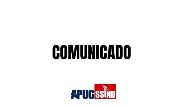 COMUNICADO APUG SOBRE PROGRESSÕES E OUTRAS DEMANDAS