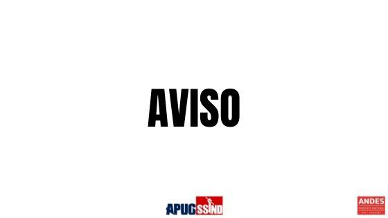 AVISO AOS PROFESSORES E PROFESSORAS DA UNIRG