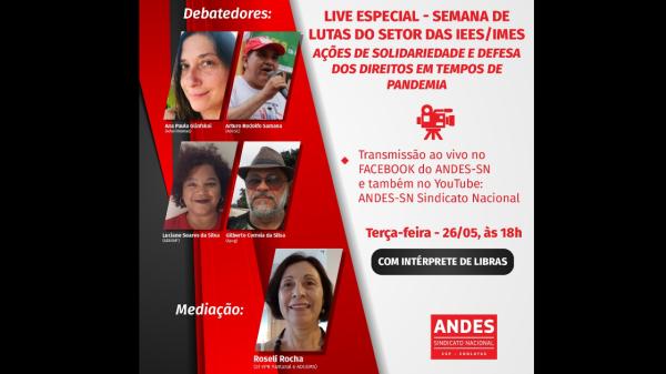 Live especial – Semana de lutas do setor das IEES/IMES