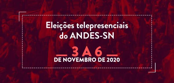 ELEIÇÕES ANDES SINDICATO NACIONAL   Chapas