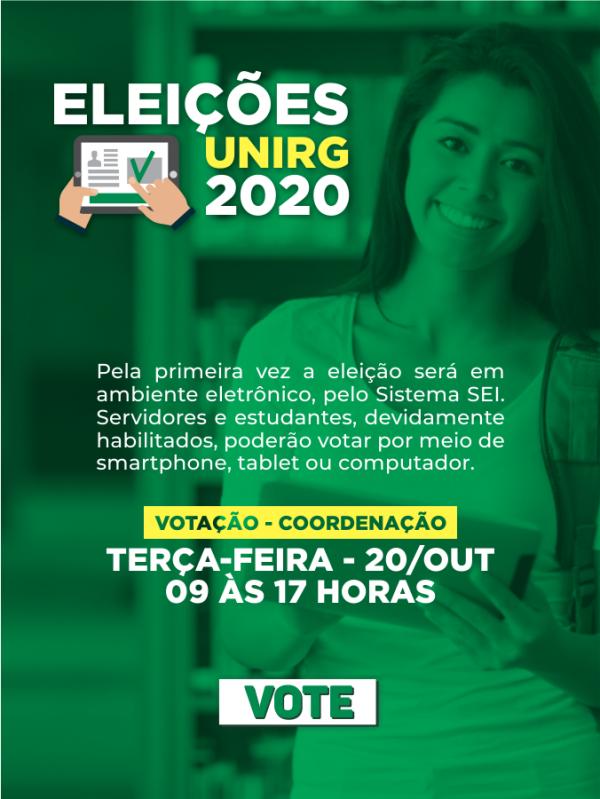 Eleições das coordenações de cursos da Unirg acontecem nesta terça-feira