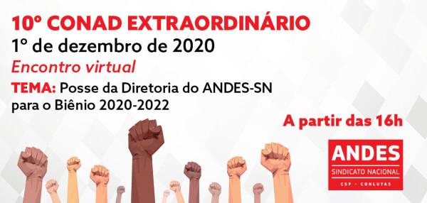 Nova diretoria do ANDES-SN tomará posse em 1 de dezembro no 10º Conad Extraordinário