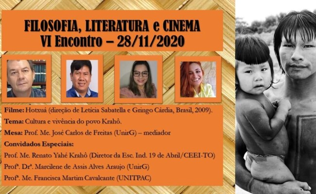 Curso de Filosofia, Literatura e Cinema completa 11 anos exibindo documentário sobre os Krahô