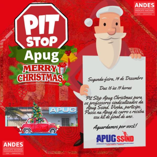 Apug prepara Pit Stop para entregar kit de final de ano aos professores(as) sindicalizados(as)