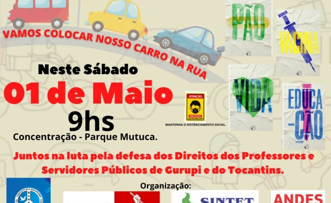 Entidades sindicais promovem debate e carreata no dia 1º de Maio