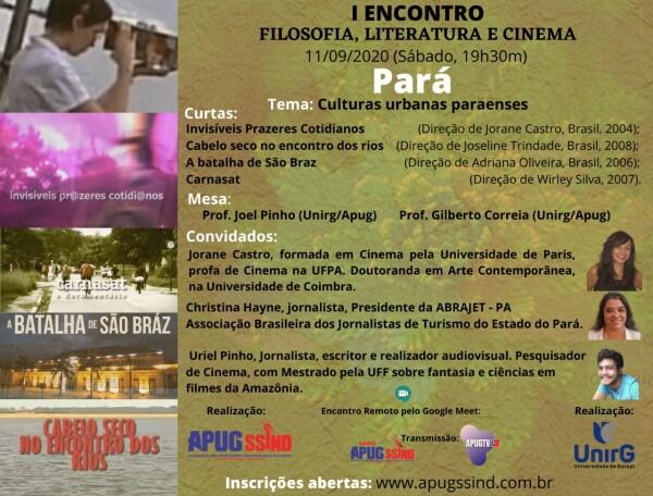 Projeto de Extensão Filosofia, Literatura e Cinema acontece neste sábado, 11 de setembro