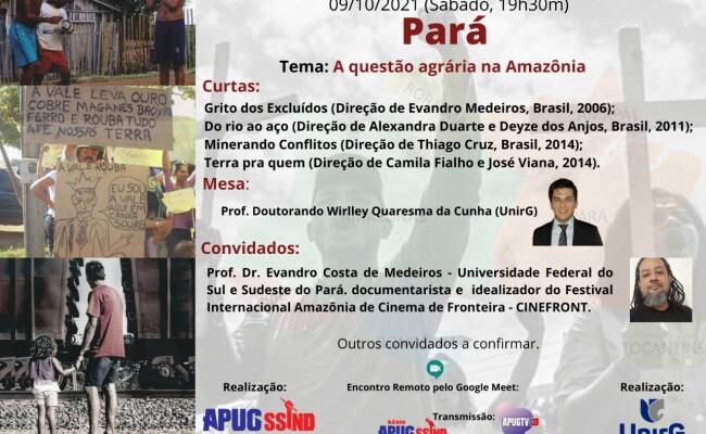 Filosofia, Literatura e Cinema debate neste sábado (9/10) o conflito agrário na Amazônia
