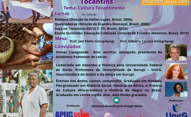 Terceiro Encontro do Filosofia Literatura e Cinema acontece na SICTEG debatendo a Cultura Tocantinense